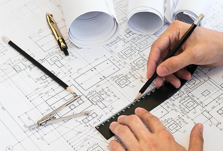 空間平面規劃與施工圖繪製